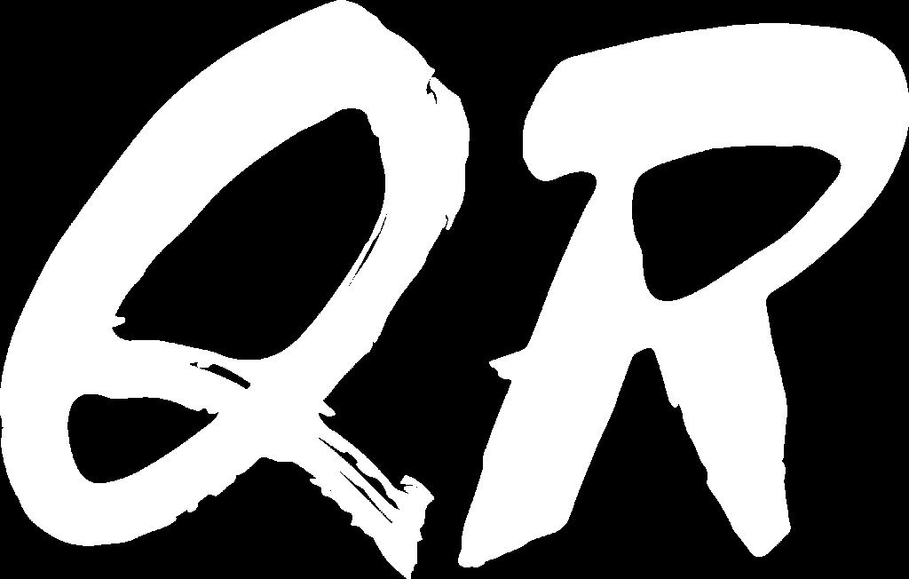 QR - White big letters