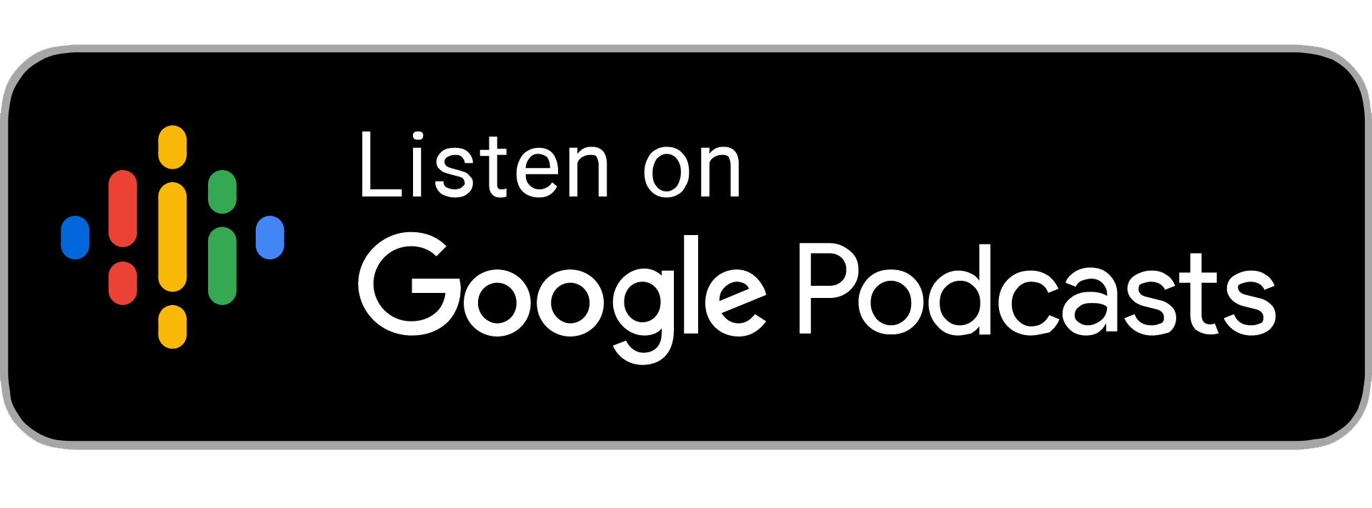 dark google podcasts badge